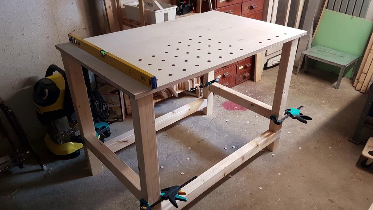 Werkbank selber bauen // build a simple workbench - YouTube