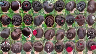 36 Different Juda Hairstyle For Wedding & Party    New  gown Hairstyle    Girls Bun Hairstyles   