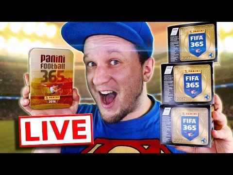 LIVE FIFA 365 STICKER DISPLAY, BLISTER, TIN MEGA UNBOXING Panini
