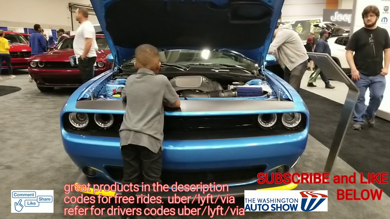 Washington Auto Show 2020.4k Dogde Challenger 2020 Washington Dc Auto Show 4k 2019