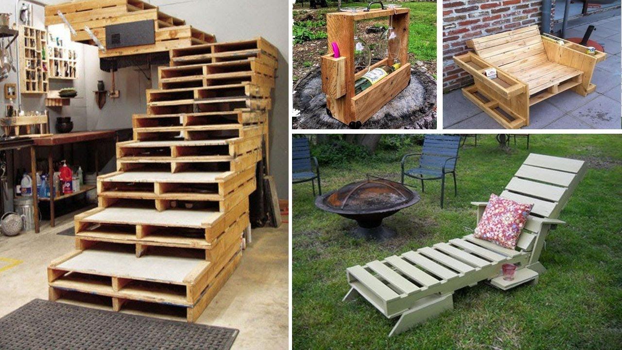 50 ideas inteligentes con palets o tarimas recicladas de - Tarimas de madera recicladas ...
