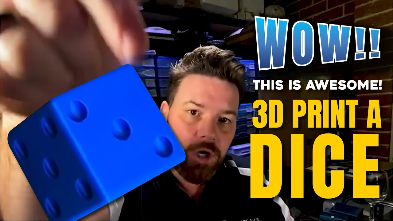 How to, 3D Print a Dice - Create-A-Lase
