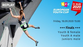 Finals for Youth B female, Youth A \u0026 Juniors male, European Youth Cup - Augsburg