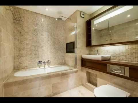Горизонтальное расположение плитки в ванной