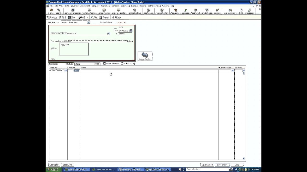 How To Write A Check In Quickbooks Youtube