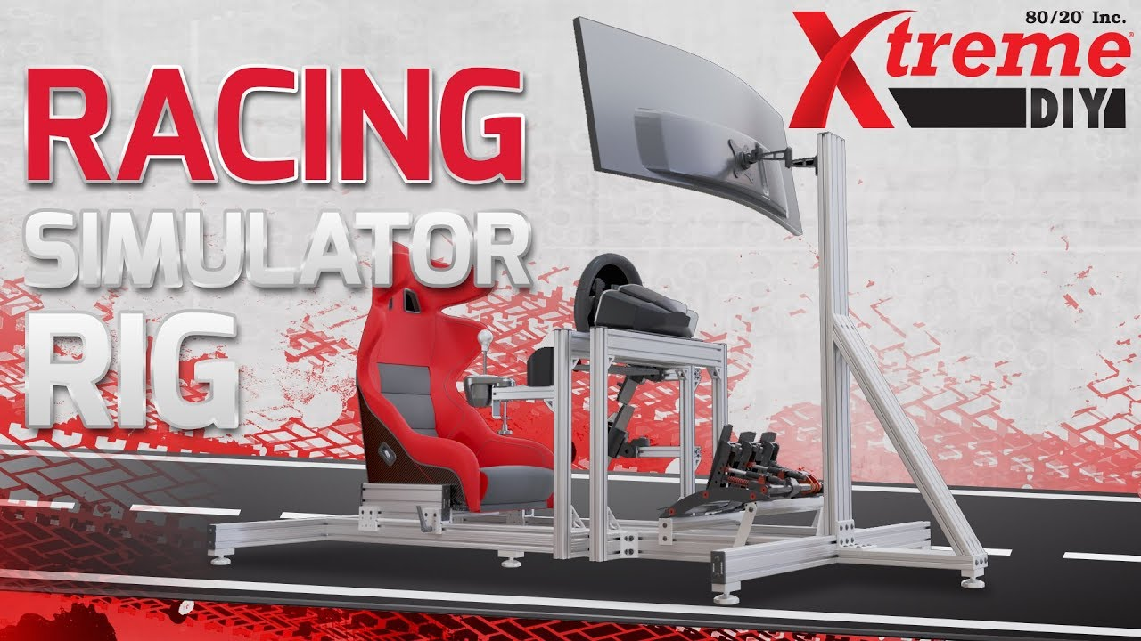 How-To Video Features a DIY Custom T-slot Racing Sim Rig