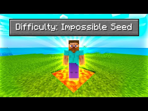Beating Minecraft on the HARDEST Seed