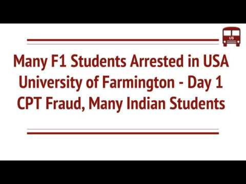 Day 1 CPT - F1 Foreign Students Arrests in US – Univ  of
