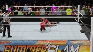WWE 2K16. Nikki Bella's New Finisher (Fireman's Cutter)