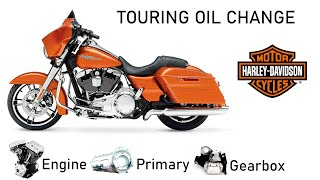 Change Oil Harley-Davidson Touring: Engine; Gearbox; Primary. Замена масла Харлей Туринг