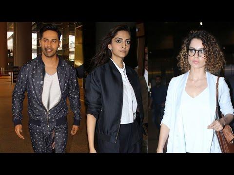 SPOTTED: Bollywood Celebs at the Airport | Varun Dhawan , Sonam Kapoor, Kangana Ranaut | SpotboyE