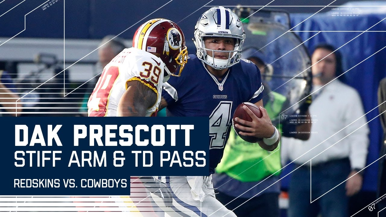4a9e3a6f536 Dak Prescott Stiff Arms His Way to A First Down Then Tosses TD Pass ...