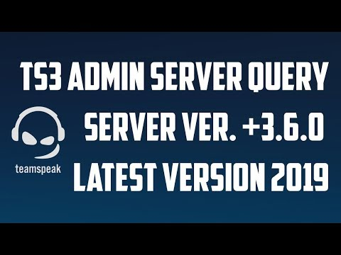 TeamSpeak 3 Admin Server Query Alma [I'm Bot] 2019 Güncel Versiyon
