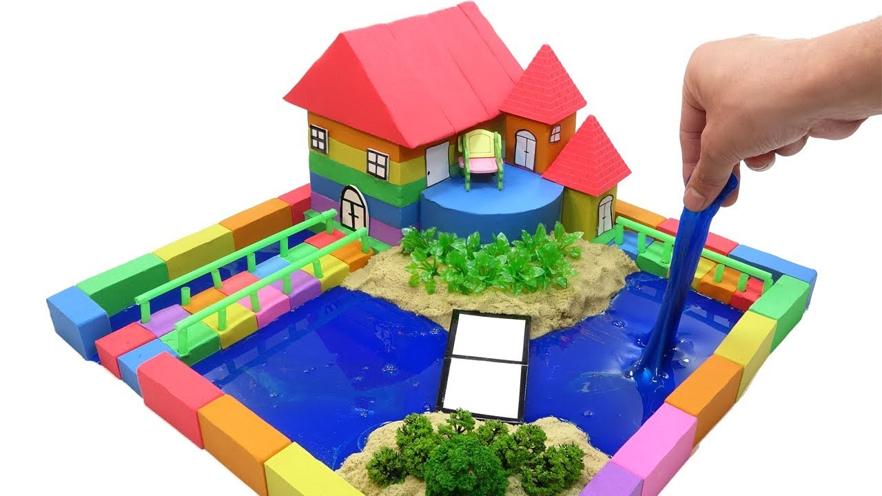 Download DIY How To Make Garden House with Kinetic Sand, Mad Mattr, Slime, Straws