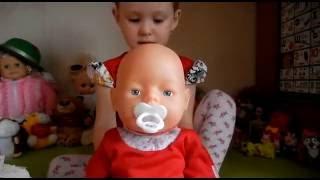 Кукла БЕБИ БОН. Обзор. Видео для девочек. Doll Baby Born. Review. Video for girls.