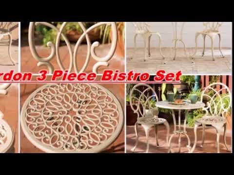 Cast Iron Bistro Sets Patio Furniture Video