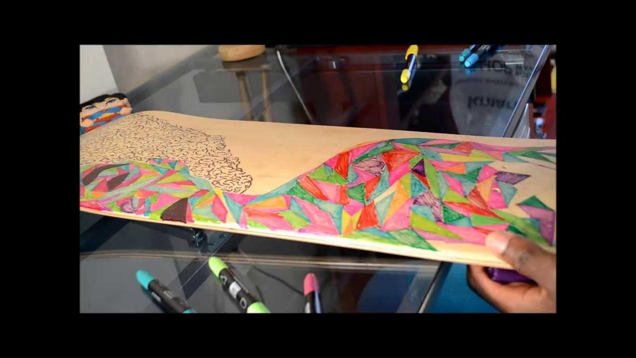 Diy skateboard design youtube - Skateboard dessin ...