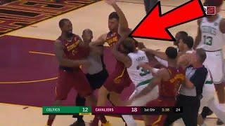 JR Smith FIGHTS Marcus Smart! INSANE BRAWL! Boston Celtics vs Cleveland Cavaliers Preseason