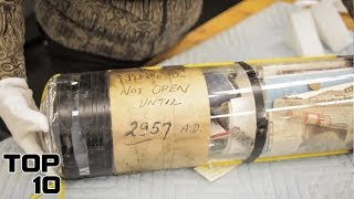 Top 10 Mysterious Time Capsules That Shouldn't Be Opened