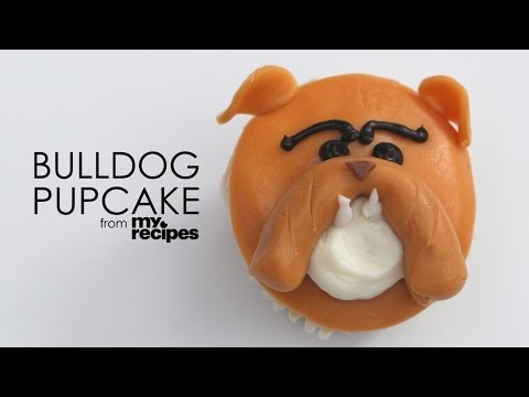 How to Make Adorable Bulldog Pupcakes | MyRecipes