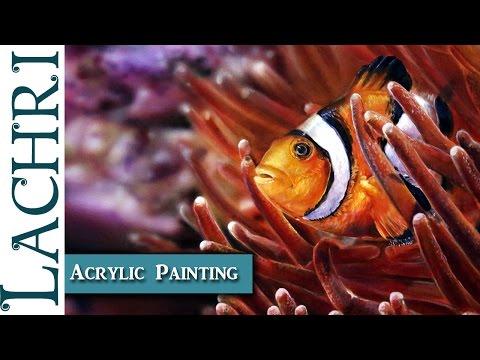 Photorealistic Clownfish  Painting Demonstration W/ Lachri