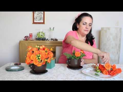 Centro de mesa con flores naranja diy centerpiece orange - Centros de mesa con flores ...