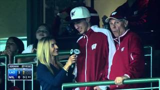 Bo Ryan & Josh Gasser Join FOX Sports Wisconsin During Brewers vs. Dodgers 5/4/15