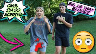 PERIOD PRANK on my teenage cousin!! *That's Awkward*
