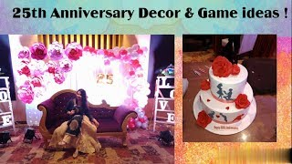 25th Anniversary celebration ideas / Silver jubilee games and decoration ideas/ Creative Apurva Jain