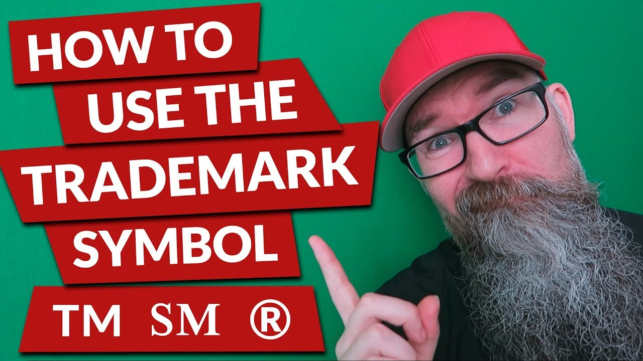 How To Use The Trademark Symbol Youtube