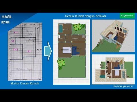 Aplikasi Desain Rumah Minimalis Gratis  tutorial cara membuat desain rumah dengan aplikasi planner 5 d bagian 1