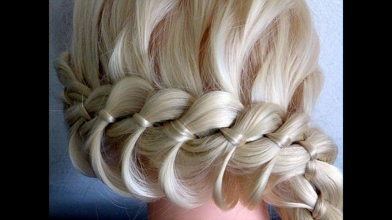 плетение косичек на длинные волосы видео уроки для начинающих