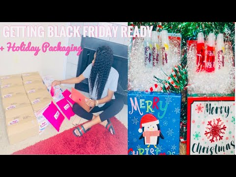 GETTING BLACK FRIDAY READY | CHEAP CREATIVE HOLIDAY PACKAGING | BLACK FRIDAY SALE EXPLAINED