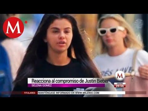 Selena Gomez reacciona al compromiso de Justin Bieber