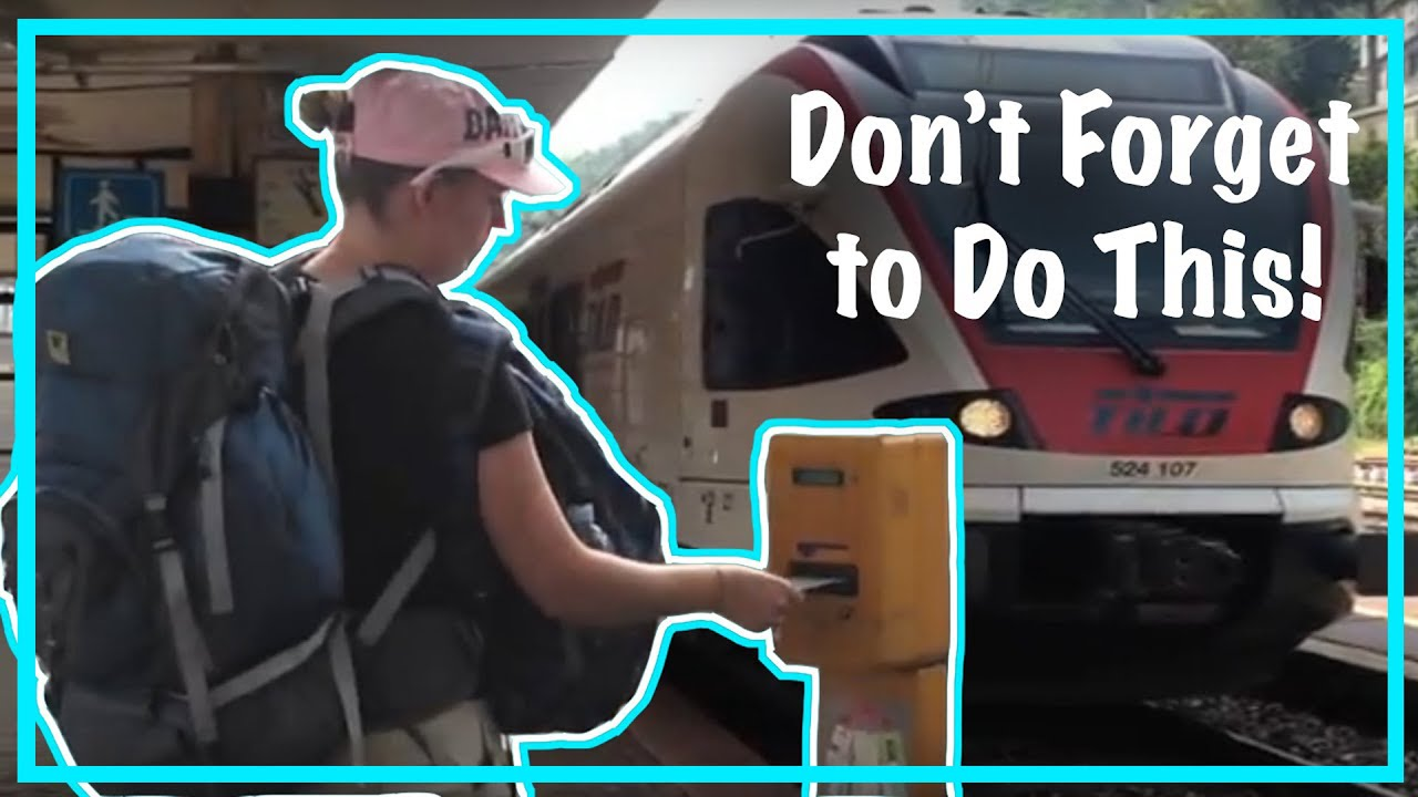 Validating train tickets in italy