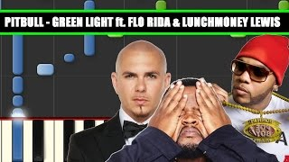 GREEN LIGHT (Pitbull ft. Flo Rida, LunchMoney Lewis) Piano Tutorial / Cover SYNTHESIA + MIDI File