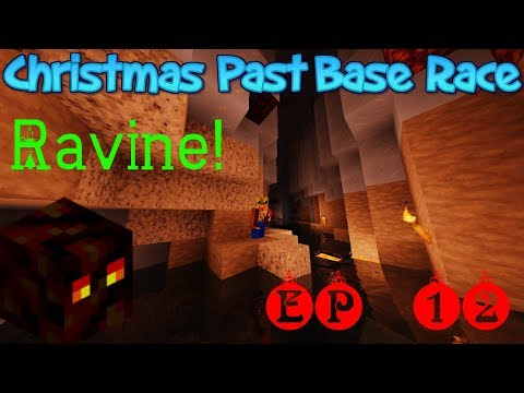 Christmas Past Baserace - Dec 17 [12] - Magma Cubes fire through caves! 😲