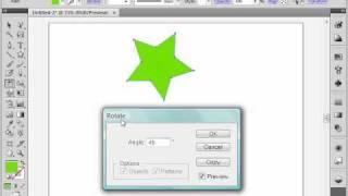 Поворот объекта в Adobe Illustrator CS4 (18/39)