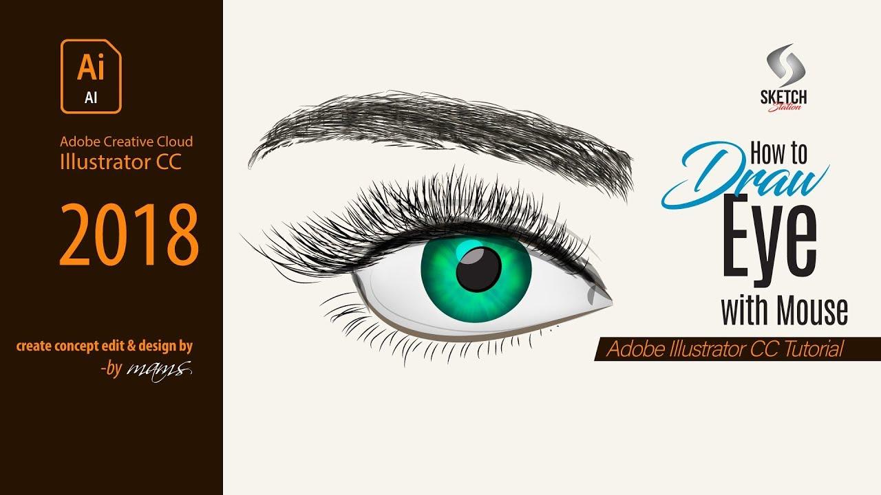 How to Draw The Eye in Illustrator CC I Adobe Illustrator ...