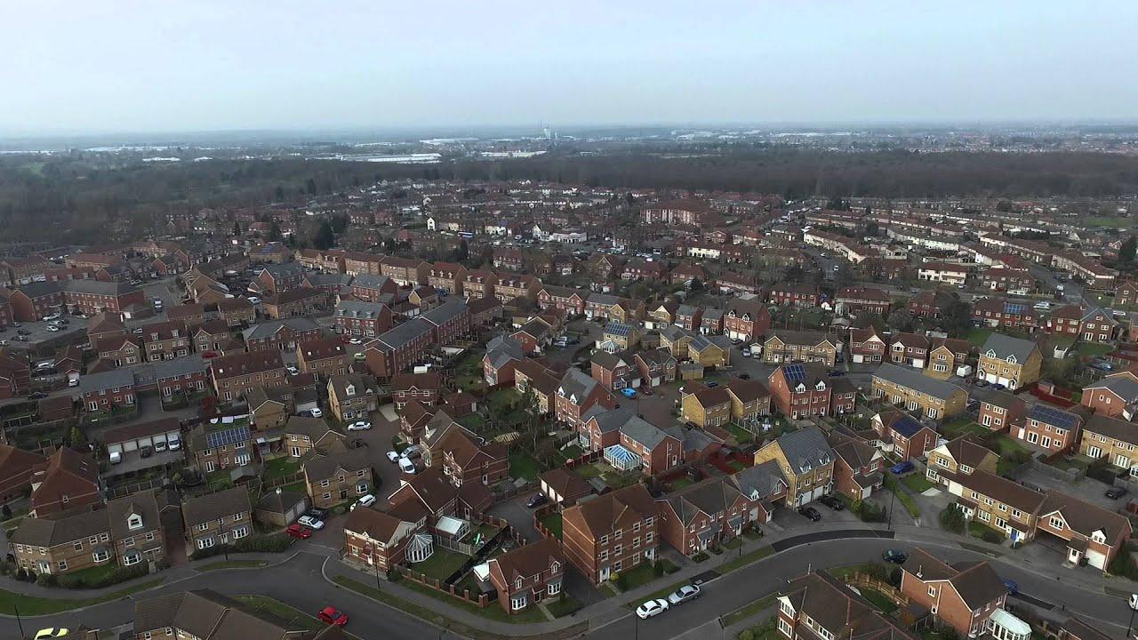 Armthorpe Pit Top Estate Aerial View DJI Phantom 3 Advanced Drone