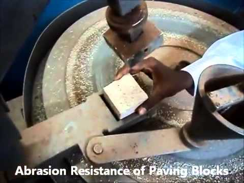 Abrasion Test Of Flooring Tile Youtube