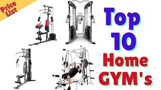 Best Affordable Home GYMs Equipment 2019 Price List
