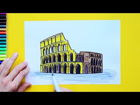 Download How To Draw A Colosseum Step By Step Famous Places Mp3 3gp