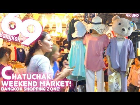 Chatuchak Weekend Market 2018  (Shopping in Bangkok) 4K UHD