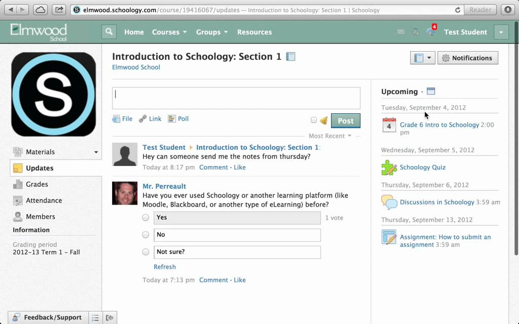 Schoology: Student Basics - YouTube