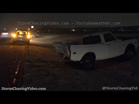 Snowy Roads And Crashes In Wichita, KS - 1/23/2020