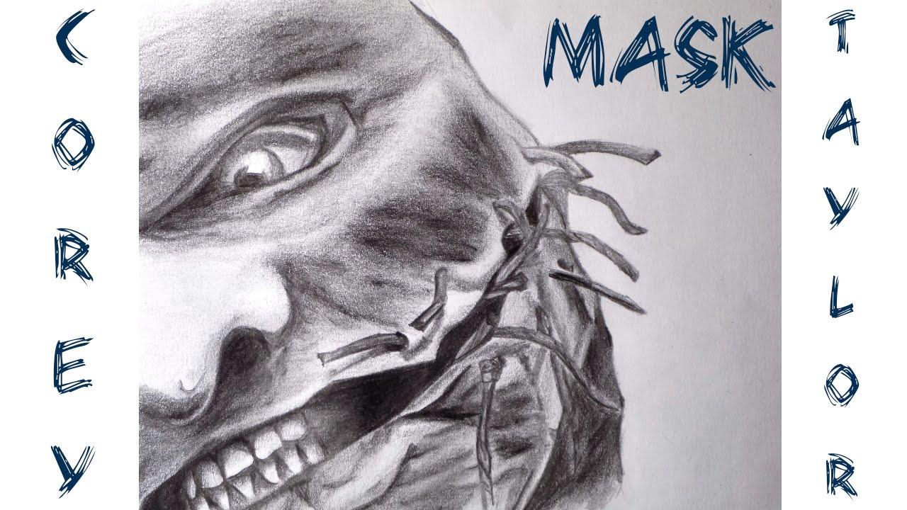 dibujando a corey taylor drawing corey taylor mask