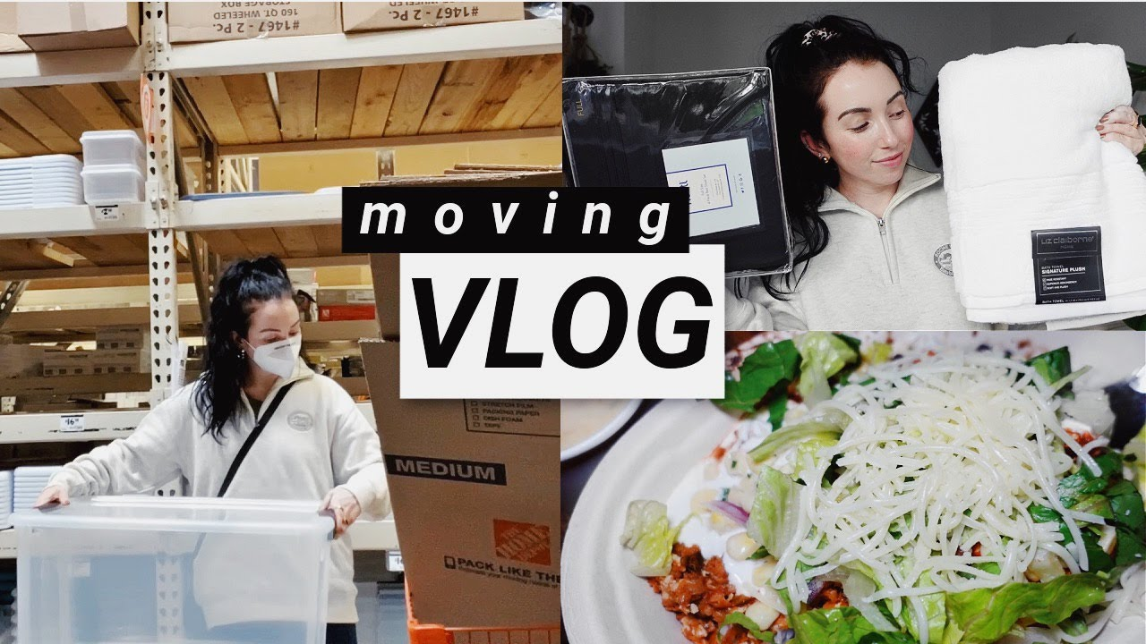 MOVING VLOG #1! let the packing begin, new towels & sheets, empties...