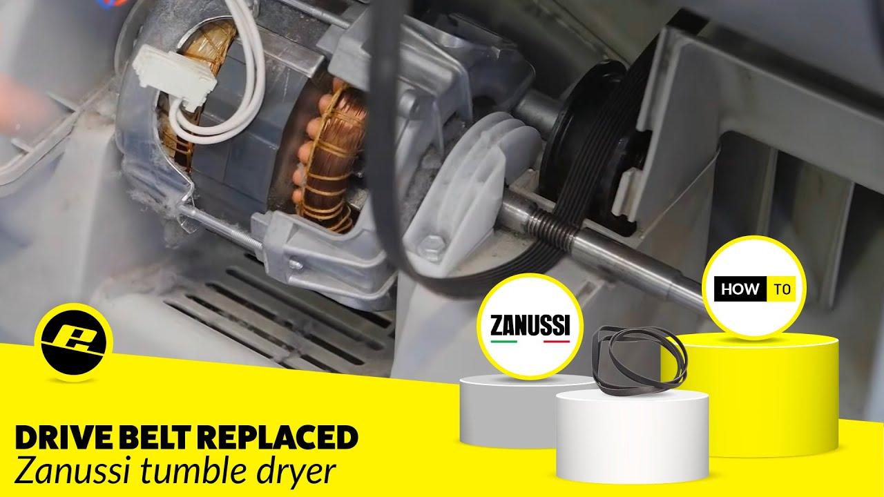 How To Replace A Zanussi Tumble Dryer Drive Belt Youtube Washing Machine Motor Capacitor Wiring Diagram