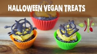 Halloween Special: Chocolate Cupcakes & Monster Face Fruit Platter (Vegan)